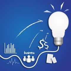 light bulb business idea think vector