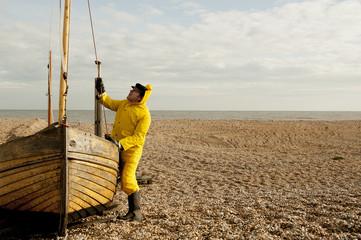 Sea Fisherman At Work
