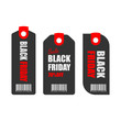 black friday sale tag design.vector