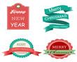 Flat design badges/labels