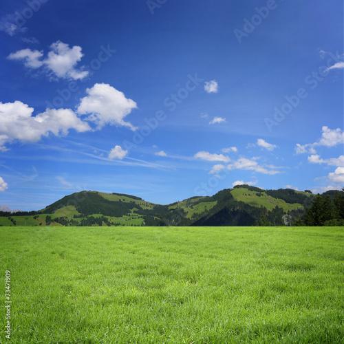 canvas print picture Landschaft mit Berge