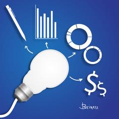 light bulb business idea  vector