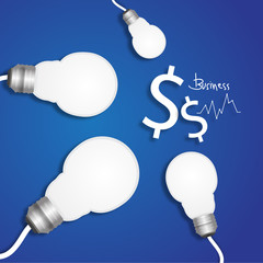 light bulb business meeting concept vector