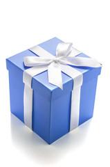 Blaue Geschenkbox