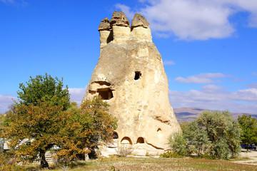 Fairy chimneys in Cappadocia, Turkey