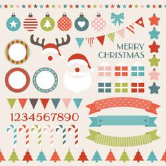 Retro Christmas Icon Collection