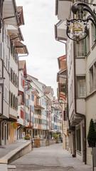 Zuger Altstadt, Stadt Zug, historische Altstadthäuser, Schweiz