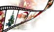 Pellicola di film con immagini Natalizie