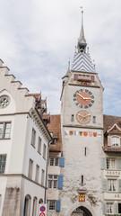 Stadt Zug, Zuger Altstadt, Zytturm, historische Häuser, Schweiz