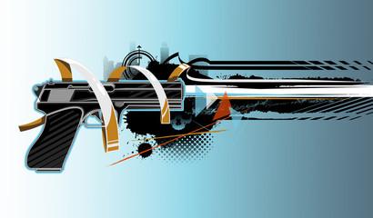 Gun graffiti