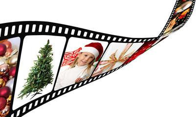 Una pellicola con foto di Natale