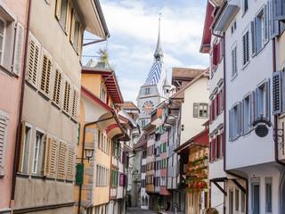 Stadt Zug, Zuger Altstadt, Altstadthäuser, Zytturm, Schweiz