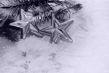 navidad de estrellas de plata