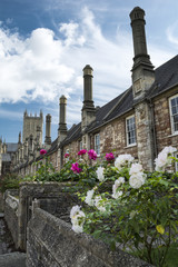 Vicars Close and Wells cathedral