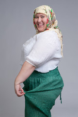 happy Russian woman