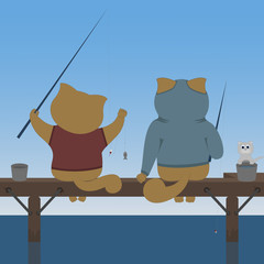 cats fishermen