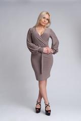 beautiful blonde woman. full length