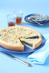 Poppy Seed Pie with Peaches and Streusel Topping
