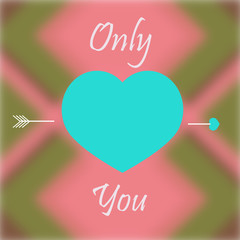 only you love illustration over color background