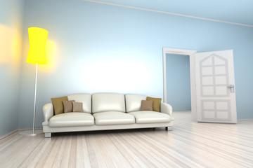 Blaues Apartment