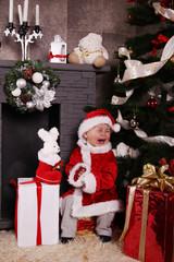 Santa baby crying