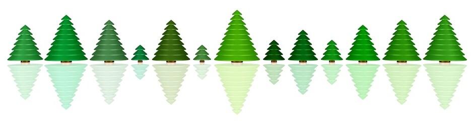 eine kleine Weihnachtsbaum-Reihe