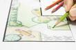 Leinwanddruck Bild - Landscape architect design garden plan