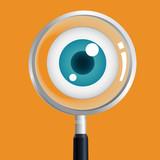 Fototapety Eye magnify