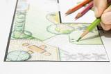 Landscape architect design garden plan