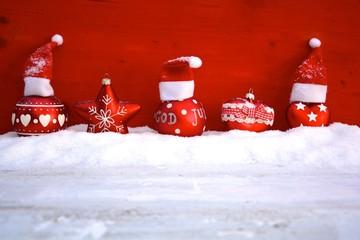 Weihnachtskarte - Christbaumschmuck