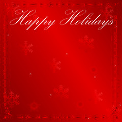 Elegant Red Holiday Wishes Background