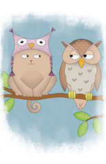 resty&mey - cat and owl
