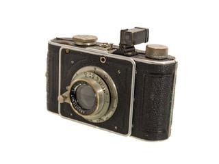 alte antike fotokamera mit fotos