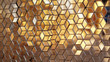 Colourful stained golden glass - 73477137