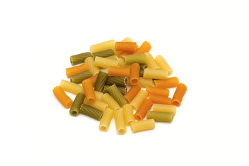 pasta on the white background
