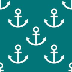 Anchor web icon. flat design. Seamless pattern.