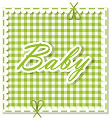 checkered background baby