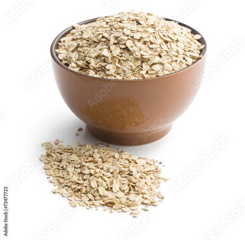 canvas print picture oat flakes in bowl
