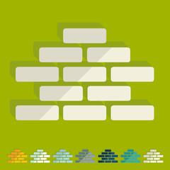 Flat design: brickwork