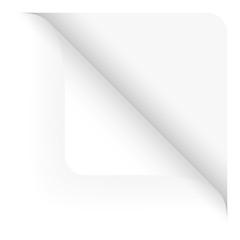 Papier - Ecke oben gerundet weiß