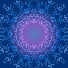 Circular ornament in blue tones