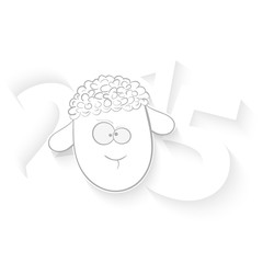 2015 Year of Sheep. White background.