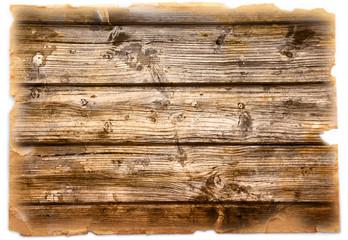 vintage cartolina legno