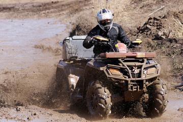 Extreme driving ATV.