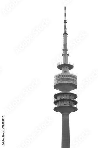 canvas print picture Olympiaturm München, freigestellt