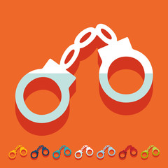 Flat design: handcuffs