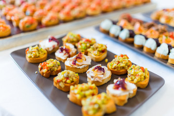 Plate with canapes