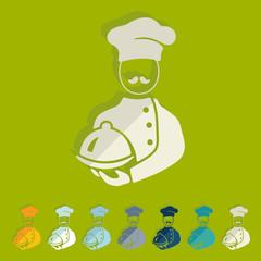 Flat design: cook