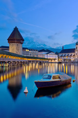 the famous Chapel Bridge,luzern Switzerland
