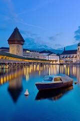 the famous Chapel Bridge,luzern Switzerland